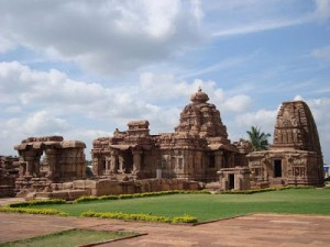 """Each one has to find his peace from within.   And peace to be real must be unaffected by outside circumstances."" -- Mahatma Gandhi Mallikarjuna and Kashivishwanatha Temples at Pattadakal, Karnataka, India  Photo by Manjunath Nikt (public domain)"